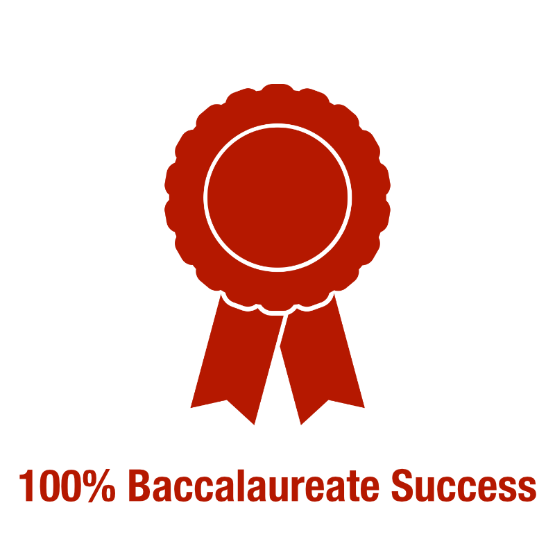 100% Baccalaureate Pass Rate