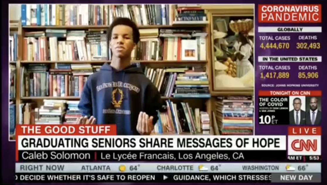 Senior student of Le Lycee on CNN about graduation