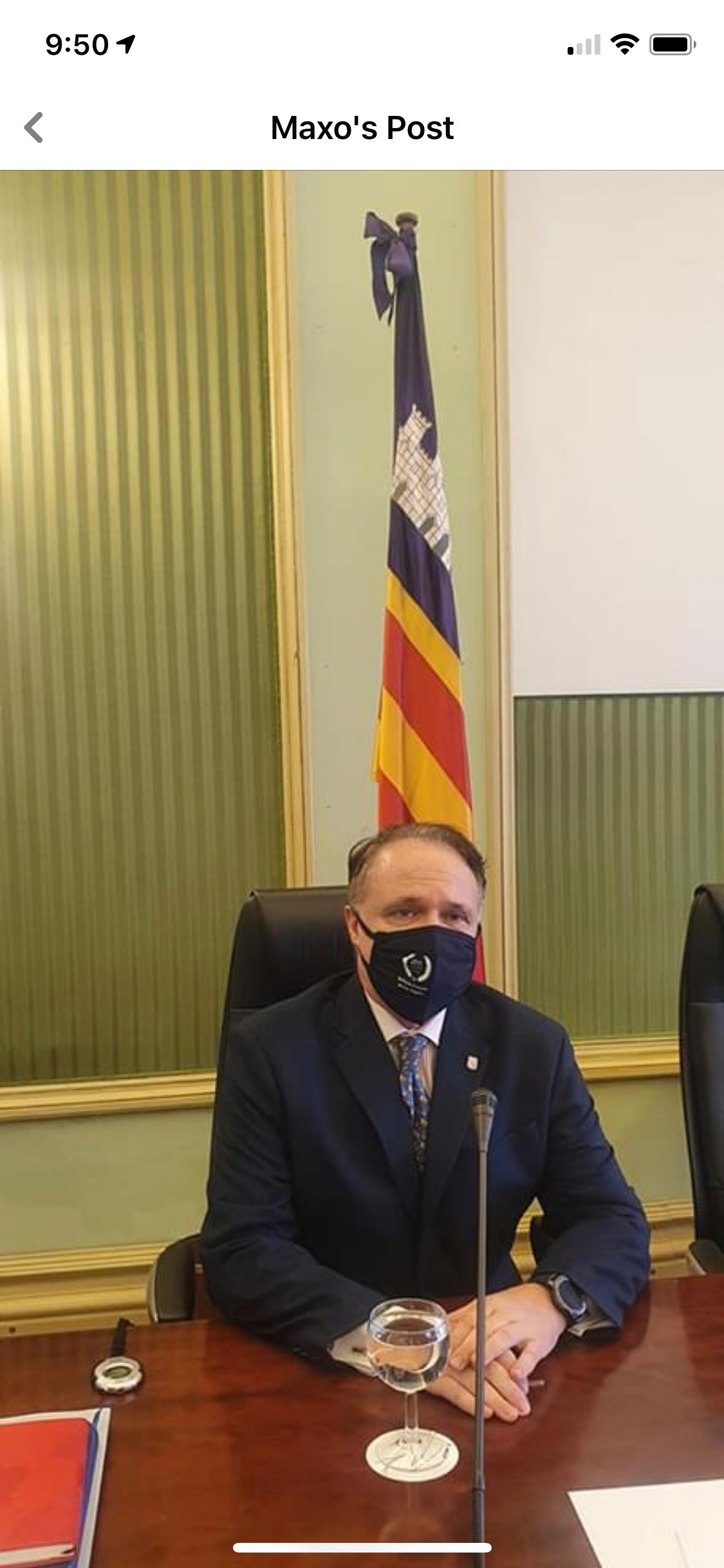 Alumnus debuts Lycee Mask at Spanish Parliament